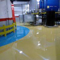 Revestimento e pintura de piso com resina epóxi